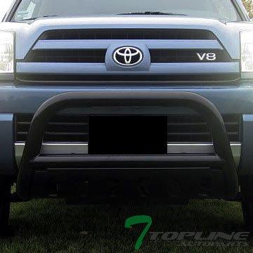 Topline Autopart Black HD Heavyduty Bull Bar Brush Push Front Bumper Grill Grille Guard w/ Skin Plate 03-09 Toyota 4Runner / Lexus GX470