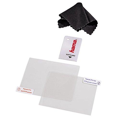Hama 4in1 Displayschutz-Set für Nintendo New 3DS, (2x Schutzfolien, Mikrofaserreinigungstuch, Softcard)