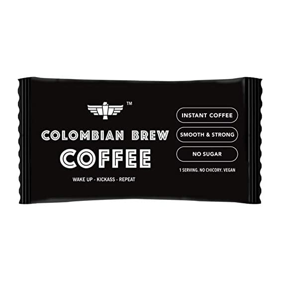 Colombian Brew Coffee Pure Instant Coffee Sachets, Pack of 180