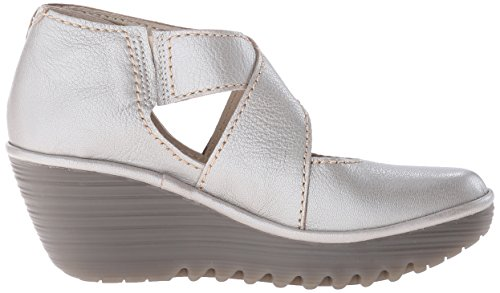 FLY London Womens Yogo Wedge Boot Silver Borgogna tfB4nV0IpM
