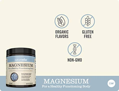 NatureWise Naturewise Magnesium Powder for Nerve & Energy Support from Magnesium Citrate (2+ Month Supply), 303.6 Gram 3