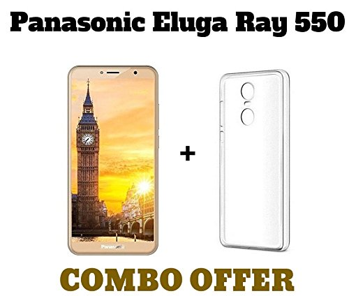 superior quality 9b54b d41ab MGRJ Tempered Glass + Transparent Back Cover [Combo Pack] for Panasonic  Eluga Ray 550