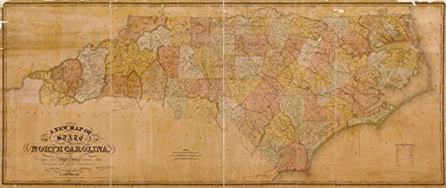 Map Poster - A new map of the state of North Carolina