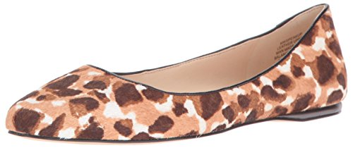 (Nine West Women's Speakup Pony Pointed Toe Flat, Natural Kenya Cheetah, 6.5 M US)