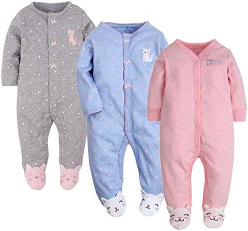 Amissz - Pijama para bebé Unisex con Oso, Pijama de algodón con diseño de Dibujos Animados
