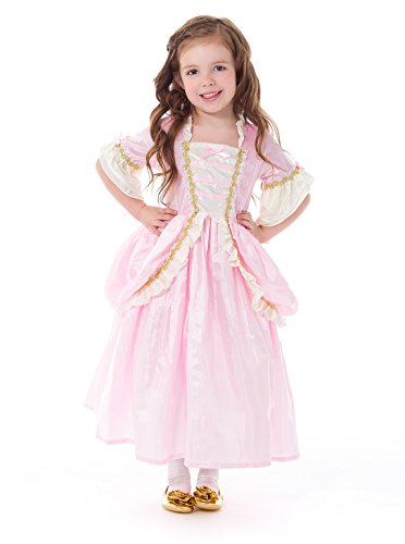 [Little Adventures Traditional Pink Parisian Girls Princess Costume - Large (5-7 Yrs)] (Princess Tiana Disney Costume)