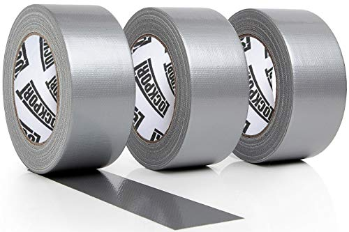 - New: Heavy Duty Silver Duct Tape - 3 Roll Multi Pack Industrial Lot - 30 Yards x 2 inch Wide - Large Bulk Value Pack of Grey Original Extra Strength, No Residue, All Weather, Tear by Hand
