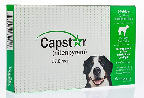 25 Lbs Flavor Tabs - Capstar Fast-Acting Oral Flea Treatment for Dogs