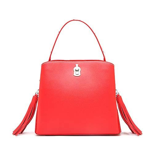frange Jxth à pour voyage Casual Sac Rouge jaune femme bandoulière Sacs couleur pour avec et fille 8r81q