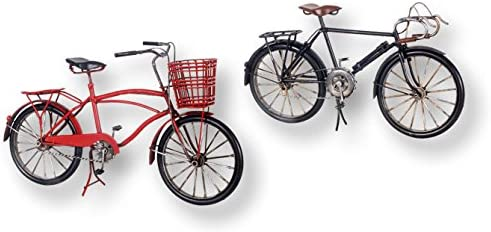 Vidal Regalos Figura Metal Bicicleta Roja 30 cm: Amazon.es: Hogar