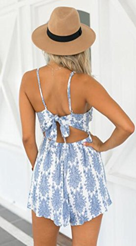 0adb1f74db79 Amazon.com  LUKYCILD Women Sexy Strap Backless Summer Beach Party Romper  Jumpsuit  Clothing