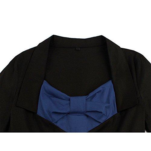 Pinkyee - Vestido - trapecio - para mujer azul marino