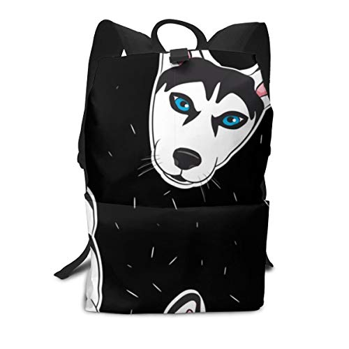 Laptop Backpack Business Thin And Durable Travel Backpack - University Men And Women Computer Bag - Husky Head