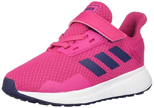 adidas Baby Duramo 9 Shoes, White/Real Magenta/Dark Blue, 9K M US Toddler