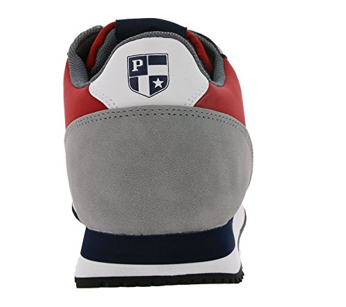 Sneaker Polo in Tessuto e Camoscio Con Para in Gomma e Logo Laterale