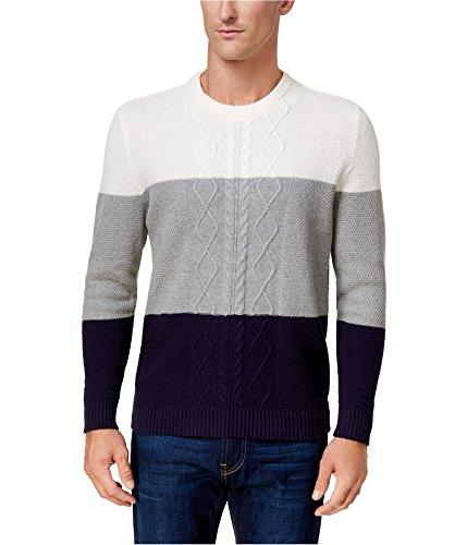 - Club Room White Mens Large Colorblock Crewneck Sweater