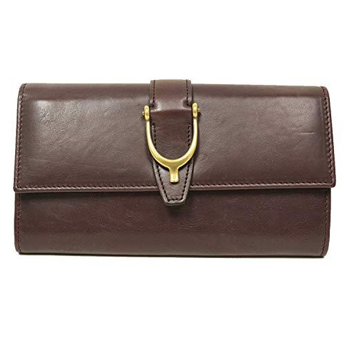 Gucci Spur Detail Continental Plum Purple Leather Wallet 277718 ()