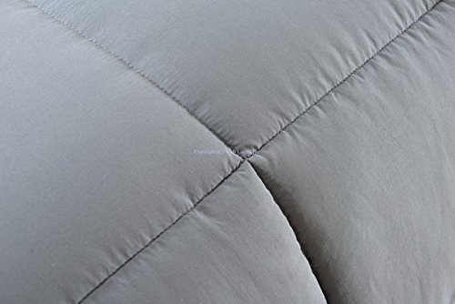Super Oversized - Down Alternative Comforter - Fits Pillow Top Beds - Queen 92'' x 96'' - Gray - Exclusively by BlowOut Bedding RN #142035 by Web Linens Inc (Image #8)