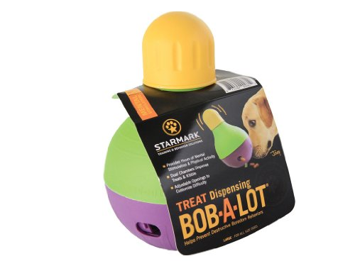 StarMark Bob-A-Lot Interactive Pet Toy, Large, My Pet Supplies