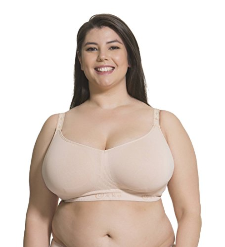 - Sugar Candy ORIGINAL Women's Maternity & Nursing Seamless Bra | Nursing Sleep Bra (for G-L US/F-HH UK cups), Nude, X-Large