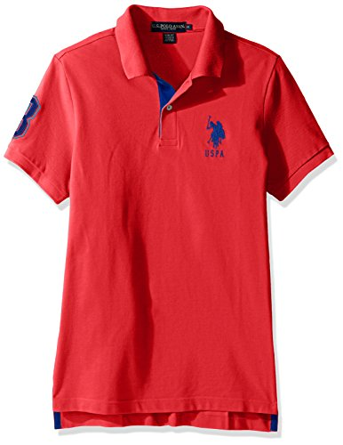 U.S. Polo Assn. Men's Short Sleeve Solid Slim Fit Pique Polo Shirt