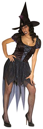 Ladies Wicked Witch Costume Medium Uk 10-12 For Halloween Fancy Dress -