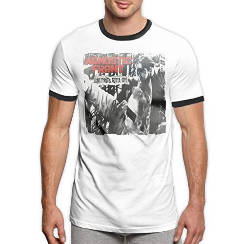 Agnostic Front Something's Gotta Give Comfortable Round Neck Men's Short Sleeve T-Shirt XXL Black