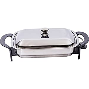 Precise Heat 16-Inch Rectangular Surgical Non Stick Stainless Steel Electric Skillet – Required a lot of trial and error with temperature