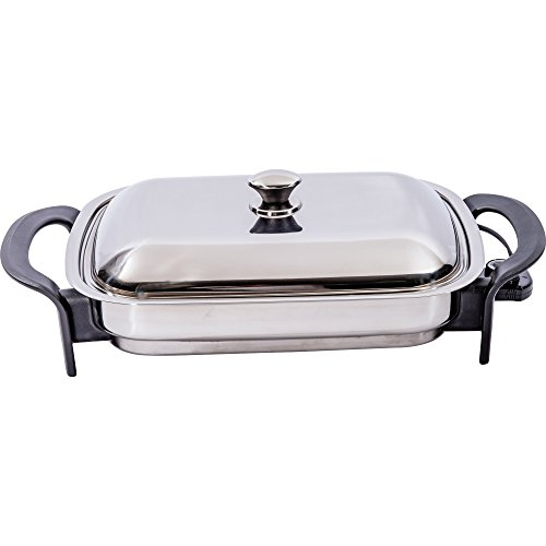 Precise Heat 16-Inch Rectangular Surgical Non Stick Stainless Steel Electric Skillet (Best Electric Fry Pan compare prices)