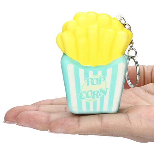 Squeeze Toy, Squishies French Fries Slow Rising Cream Scented Keychain Stress Relief Toys (Light Green)