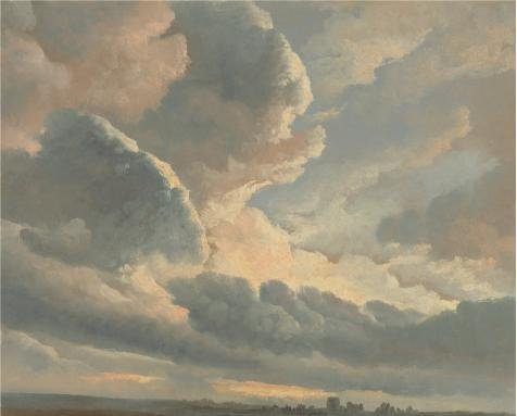 Perfect Effect Canvas ,the High Definition Art Decorative Prints On Canvas Of Oil Painting 'Study Of Clouds With A Sunset Near Rome, 1786 - 1801 By Simon Alexandre Clement Denis', 16x20 Inch / 41x51 Cm Is Best For Kids Room Decor And Home Artwork And - Alfred Gockel Flowers