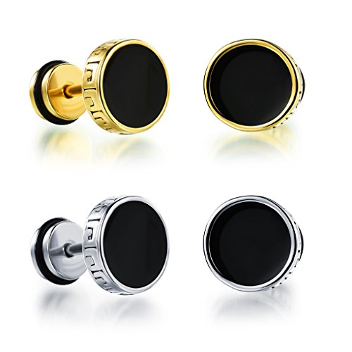 Feraco Circle Stainless Earrings Piercing