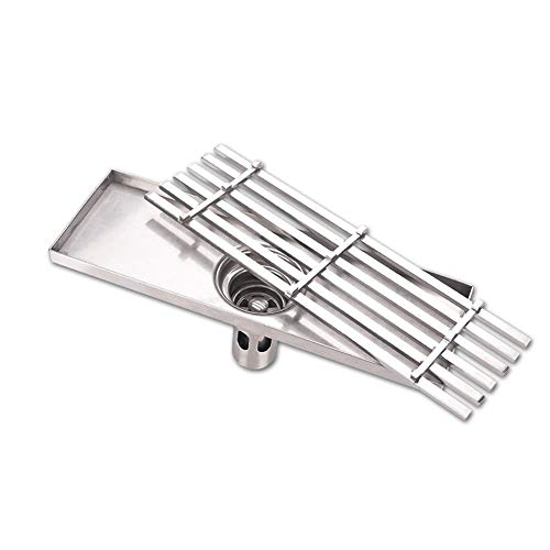 PEIQI Linear Shower Drain with Removable Cover Brushed 304 Stainless Steel Floor Drainer for Kitchen Washroom Garage and Basement,30Cm by PEIQI (Image #1)