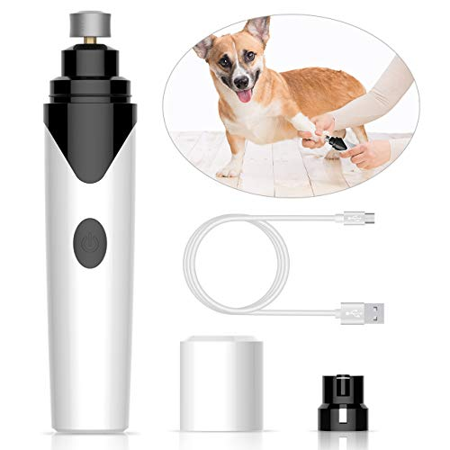 oneisall Dog Nail Grinder Quiet, Rechargeable Wireless Cat Nail Clippers Trimmers Drill Pet Grooming Tool for Small Medium Dogs Paws, with USB Charging Cable by oneisall