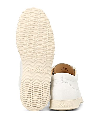 Femme HXW00E00010I9HB001 Blanc Cuir Lacets Hogan Chaussures À q7AznzSv