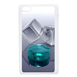 3D 17 Ipod Touch 4 Case, Case for Ipod Touch 4 4g 4th Cute Bloomingbluerose - White