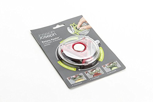joseph joseph jjpebg0100cb rotary peeler kompakter 3 klingen sparsch ler gr n. Black Bedroom Furniture Sets. Home Design Ideas
