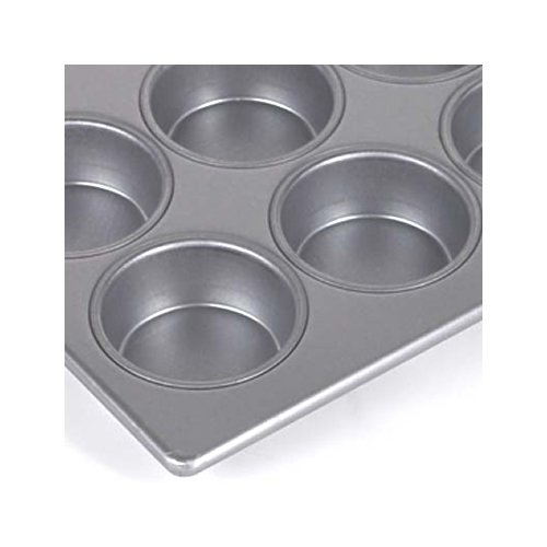 Focus Foodservice 903375 Jumbo Muffin Pan, 3 Rows of 4 Muffins, 1-1/2 inch Vertical Depth, 12-7/8 inch x 17-7/8 inch, 7 Oz Capacity per Cup