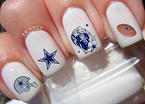 Dallas Cowboys Water Nail Art Transfers Stickers Decals - Set of 38
