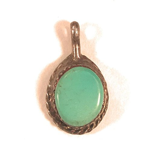 Nizhoni Traders LLC Vintage Navajo Turquoise Sterling Silver Pendant