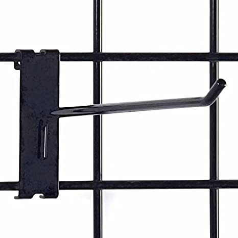 Black KC Store Fixtures A04711 Gridwall Hook Pack of 100 1//4 Wire 10 Long