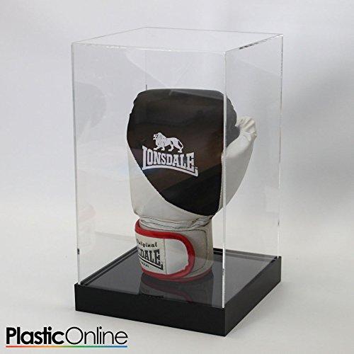 Plastic Online Ltd Boxing Glove Display Case - Black Base