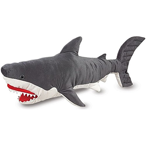 Unk 40 Inches Grey White Super Soft Stuffed Giant Shark Plush Toy  Adorable Wonder Large Deep Sea Cuddly Animal Toys  Comfy Hugs Ocean Adventure Bed Time Friend  For Kids Girls Boys