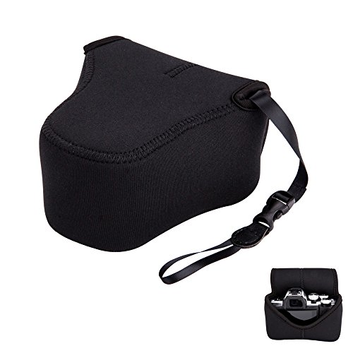 Mirrorless Camera Pouch Case JJC Ultra-Light Camera Bag for Fuji Fujifilm X-T20 X-T10 X-A5 X-A3 X-A2 X-M1 X-E3 Canon EOS M5 Olympus E-M10 II E-M5 II E-PL9 E-PL8 with a lens up to 53.35.1