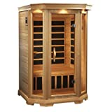 Far Infrared Sauna by Golden Designs, Luxury - 2 Person - Curbside Delivery