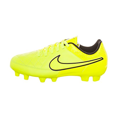 GLD HYPR Tiempo Leather NIKE Football Boot PNCH MTLC Genio BLCK FG Junior VLT CN zw1767q