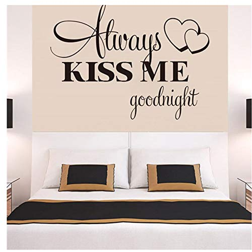 (Wall Stickers ,Ikevan Always Kiss Me Goodnight Wall Sticker PVC Decal Home Bedroom Living Room TV Setting Wall Sticker Romance Home Decoration)