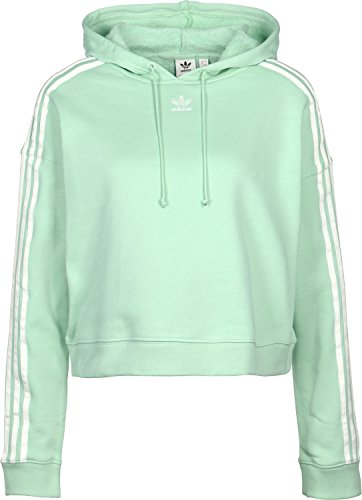 Cropped Donna Verde Adidas Felpa Hoodie pdSnSWxZq