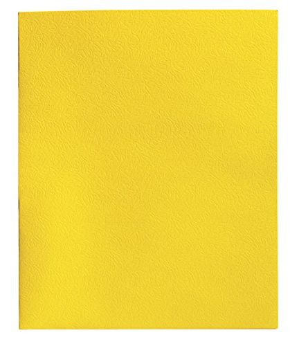 School Smart Heavy Duty 2 Pocket Folder - 8 1/2 x 11 inch - Pack of 25 - Yellow