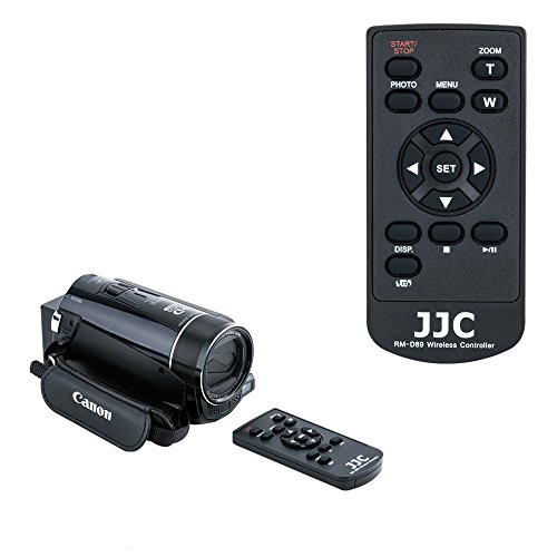 JJC WL-D89 Wireless Remote Control for Canon Vixia HF G40 HF G60 HF G30 HF G20 HF G10 GX10 XA55 XA50 XA35 XA30 XA25 XA20 XA10 XF400 XF405 HF S200 - S30 Camcorder